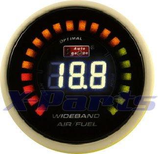 52mm Lambda Anzeige mit Lambdasonde Breitband Air