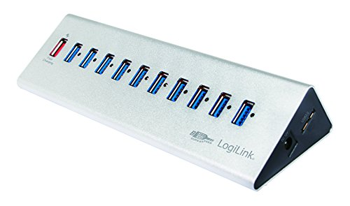 LogiLink USB 3.0 Hub 10-Port + 1x Schnell-Ladeport