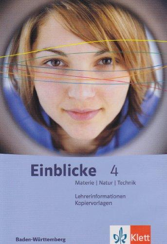 Einblicke Materie – Natur – Technik Klasse 10. Band 4. Lehrerband-CD mit Kopiervorlagen. Baden-Württemberg. Windows XP; 2000 und Mac OS X10.3