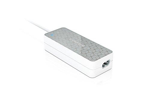 Innergie PowerGear 90, 90 Watt universal Ladegerät für Laptops mit 18 – 21V, zusätzliche Adapter-Anschlüsse gewährleisten die Kompatibilität mit mehr als 16 Laptops, grau