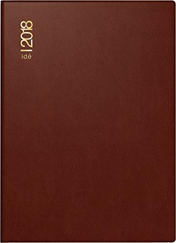 rido/idé 701300229 Taschenkalender perfect/Technik I, 2 Seiten = 1 Woche, 100 x 140 mm, Kunststoff-Einband bordeaux, Kalendarium 2018