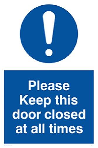 """Viking Schilder mv5511-a2p-1m """"Bitte Tür geschlossen jederzeit"""" Zeichen, 1mm halbstarr Kunststoff, 600mm H x 400mm W"""