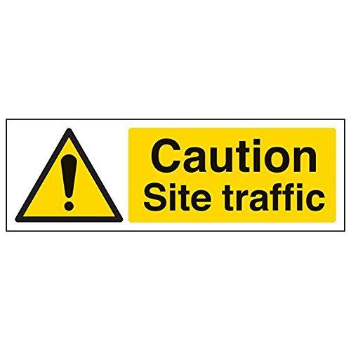 """vsafety 64017ax-r """"Caution Baustellen Traffic""""-Zeichen, Landschaft, 300mm x 100mm (3Stück)"""