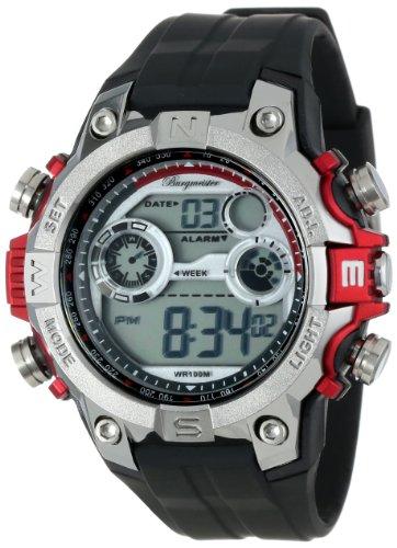 Burgmeister Armbanduhr für Herren mit Digital Anzeige, Quarz-Uhr und Silikonarmband, Wasserdichte mit zeitlosem, schickem Design - klassische, elegante Uhr für Männer - BM800-112A Digital Power