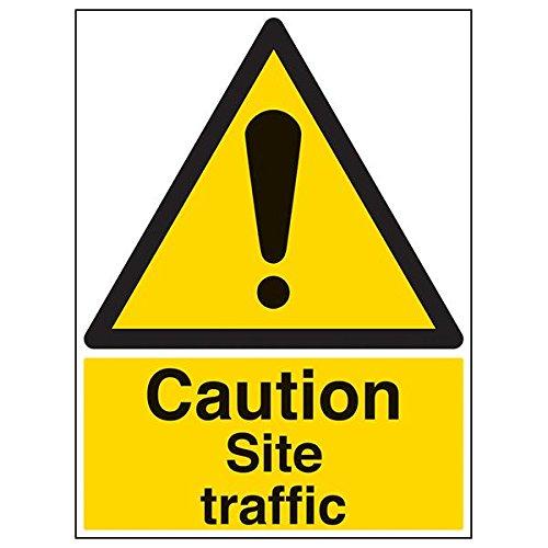 """vsafety 64008bl-r """"Caution Baustellen Traffic""""-Zeichen, Portrait, 450mm x 600mm (3Stück)"""