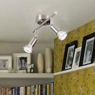 Licht-Trend Luminato, LED-Deckenbalken, 26 cm, 2 x LED 29218+LED