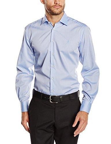 OTTO KERN Herren Regular Fit Business Hemd 50100/13201, Gr. Kragenweite: 45 cm, Blau (hellblau 390)