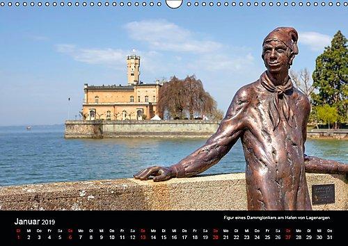 Bodensee (Wandkalender 2019 DIN A3 quer): Eine fotografische Rundreise um den Bodensee mit Besuchen in Lindau, Friedrichshafen, Meersburg und vielen ... (Monatskalender, 14 Seiten ) (CALVENDO Orte)