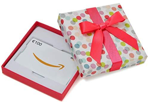 Amazon.de Geschenkkarte in Geschenkbox - 100 EUR (Bunte Punkte)